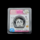 2-in-1 3.5mm Panda Style Dust-Proof Plug & Holder for IPHONE - Black + White
