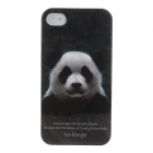 Animal Series Cute Panda Style Protective Plastic Back Case for IPHONE 4 / 4S - White + Black