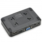 Mini 1080P Full HD Reproductor c/ HDMI / USB / SD / VGA - Negro