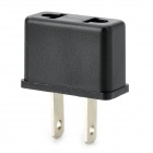 KLH-1002 EU to US Plugs Power Adapter - Black (2-Flat-Pin Plug)