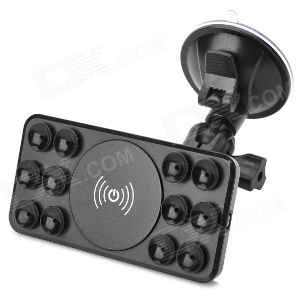 A8 Wireless Transmitter w/ Car Charger + Holder for Cellphones - Black