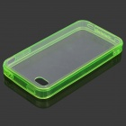 S-What Protective TPU + ABS Back Case for IPHONE 4 / 4S - Transparent Green