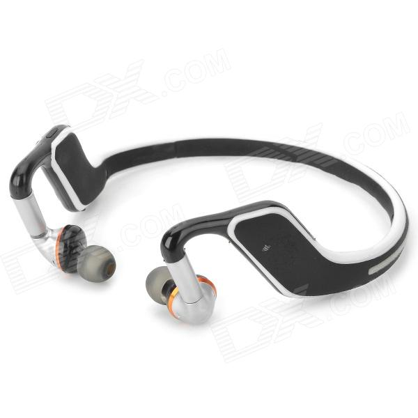 QUICKMAN Sports Bluetooth V4.0 Headband Headphone w/ Microphone - Black + White + MulticoloredHeadphones<br>Form  ColorBlack + White + Multi-ColoredBrandQUICKMANMaterialAluminum alloy + plasticQuantity1 DX.PCM.Model.AttributeModel.UnitShade Of ColorBlackEar CouplingHeadbandBluetooth VersionBluetooth V4.0Operating RangeWithn 8mRadio TunerNoMicrophoneYesSupports MusicYesConnects Two Phones SimultaneouslyNoApplicable ProductsPS3,IPHONE 5,IPHONE 4,IPHONE 4S,IPHONE 3G,IPHONE 3GS,IPOD,IPAD,Others,IPHONE 5S,IPHONE 5C,Cellphones and computers w/ bluetoothBuilt-in Battery Capacity 320 DX.PCM.Model.AttributeModel.UnitBattery TypeLi-polymer batteryTalk Time10 DX.PCM.Model.AttributeModel.UnitMusic Play Time8hStandby Time200 DX.PCM.Model.AttributeModel.UnitPower AdapterOthers,USB 5VOther FeaturesSupports NFCPacking List1 x Headphone1 x USB cable (100cm)<br>