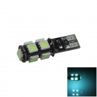 T10 1.8W 180lm 9-SMD 5050 LED Ice Blue Canbus Error Free Car Side Light / Clearance lamp - (12V)