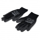 Galilee pncg 100108 Protective Rubber + Nylon Gloves - Black (Pair)