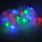 20-BT Pine Seed Style 1.3W 480lm RGB Light 20-LED Holiday Decoration Strip (AC 220V)