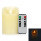 LED-Flameless-Electronic-Candle-w-10-key-Controller-White
