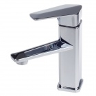 BY-2256 Fashionable Dual Hole Stainless Steel Cold / Hot Bathroom Faucet - Silver