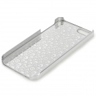 Laser Etching Skull Pattern Plastic Back Case for IPHONE 5 / 5S - Tranparent + Silver