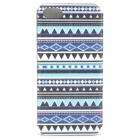 Tribal Ethnic Style Protective PU Leather Case for IPHONE 5S - Blue + Black + White