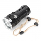 UltraFire 6-LED 2300lm 3-Mode White Flashlight - Black (4 x 18650)