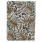 Leopard Style Protective PU Leather Case for IPAD AIR - Golden + White + Black