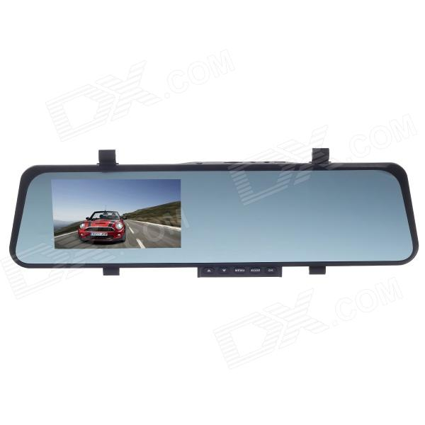 "4.3"" TFT 2.0 MP HD 1080P 120 Degree Wide Angle Rearview Mirror Car Recorder w/ TV-Out / Micro USB"
