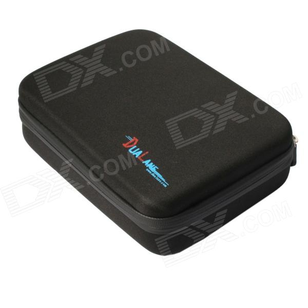 DUALANE C1746 Protective EVA Camera Storage Bag for Gopro Hero 4/3+ / HERO3 / HERO2 - Black