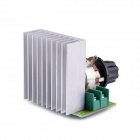 Navo 3800W SCR Electronical Voltage Regulator Dimmer Speed Controller Thermostat - Silver + Green