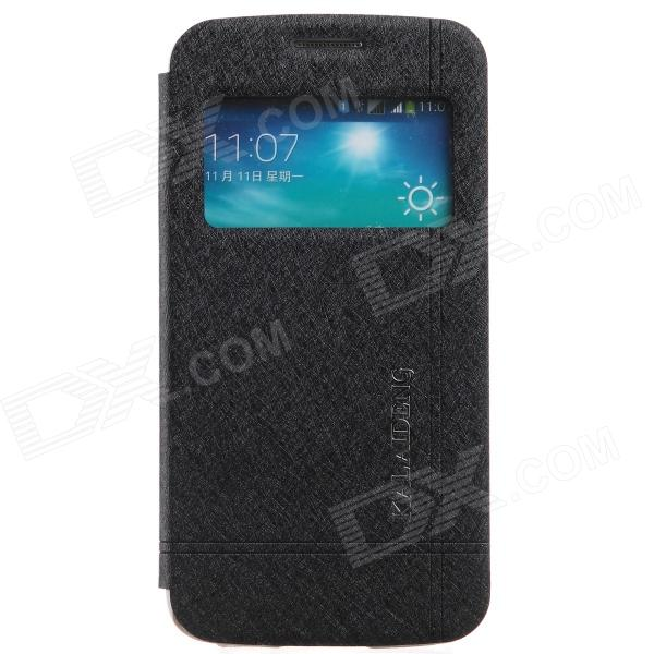 KALAIDENG Protective PU Leather Case Cover Stand for Samsung Galaxy Win Pro G3812 - Black