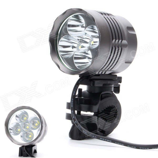 ZHISHUNJIA 360 Degree Rotation 3200lm 3-Mode White Bicycle Headlamp - Black Grey (6 x 18650)