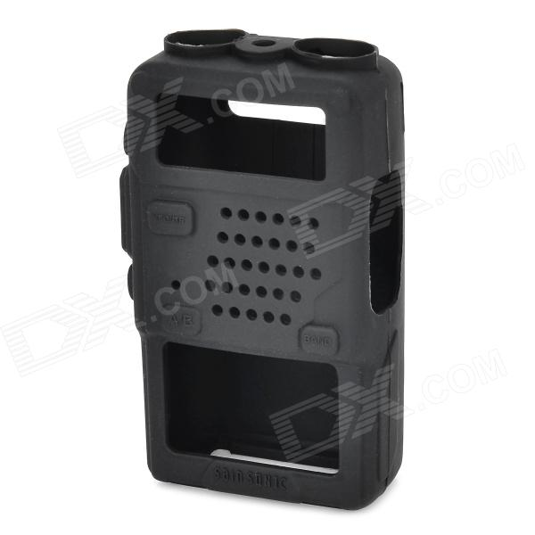 Silicone Walkie Talkie Case for BaoFeng 5R,5RA,5RE,5RB,TYT-F8 - Black