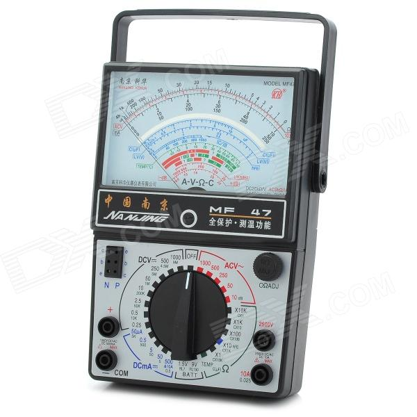 MF-47 Pointer External Magnetic Multimeter - White + Black (1 x AA / 9V)