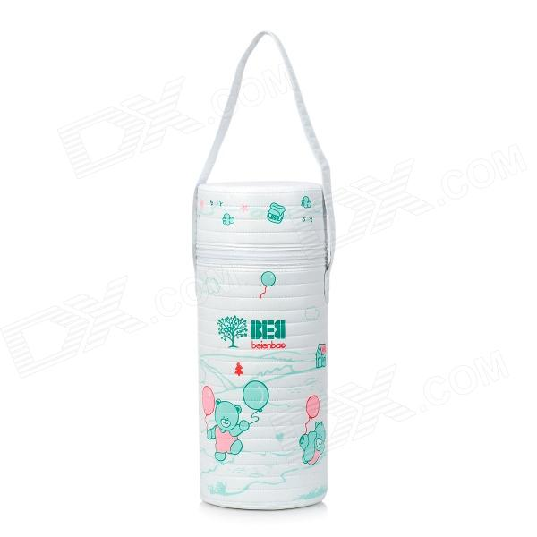 Bain treasure 7940 Baby Bottle Insulation Heat Preservation Bag - White + Blue + Multi-Colored