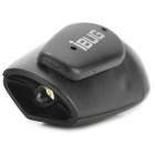 iBUG Mini USB Waterproof Rechargeable 2-Mode White Light Keychain Torch - Black