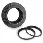 Aluminum Alloy Filter Adapter Rings Combination - Black (16PCS)