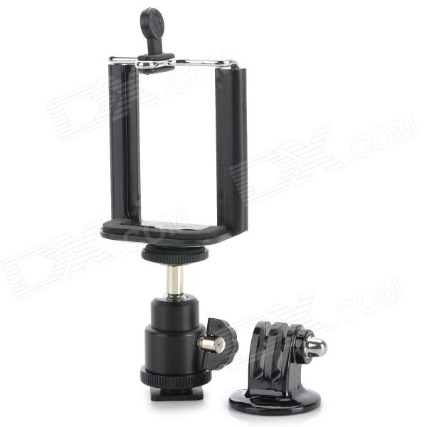 1/4 Adapter + Mount + Large Cellphone Clip for GOPRO Hero 4/3/2