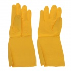CLEANGUARD Waterproof Extra Long Cuff Rubber Gloves - Yellow (Size-M / Pair)