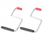 """5"" Shape Portable Steel Heat Dissipation Holder Stand for Laptop - Black + Red + Silver (2 PCS)"