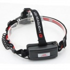 E-Smart Stretch Zooming LED 200lm 3-Mode Cold White Light Headlamp - Black(1 x 18650)