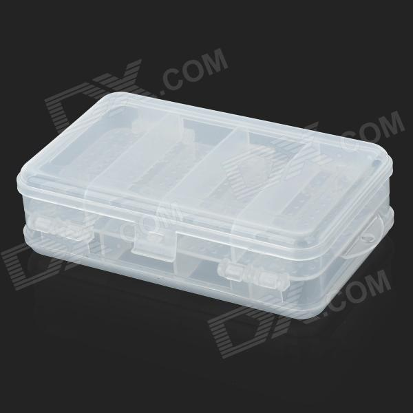 Buy 10-Compartment Dual Layer Plastic Medicine Box - Transparent White with Litecoins with Free Shipping on Gipsybee.com