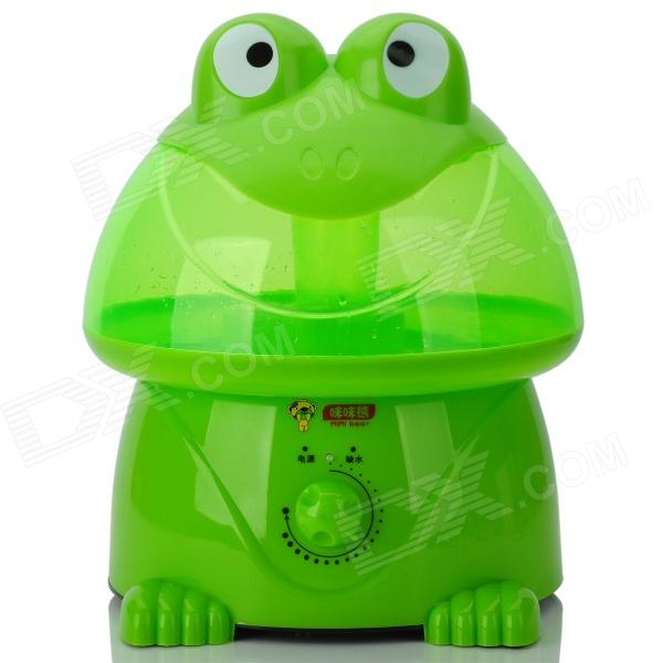 MIMIXIONG JSQ-001 Frog Style Mechanical Ultrasonic 30W Air Humidifier - Green + Transparent (2~4L)
