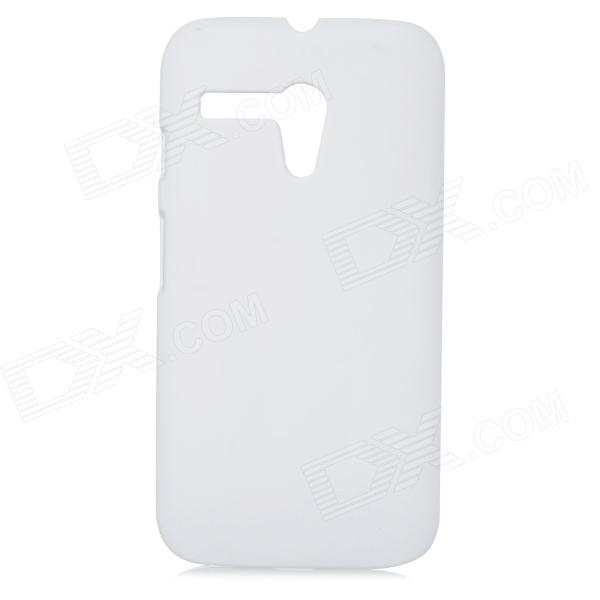 Protective Frosted PC Back Case for MOTO G - White