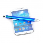 Convenient Touch Screen Capacitive Stylus w/ 4-color Ball-point Pen for IPHONE / IPAD / HTC - Blue