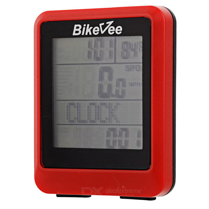 Bikevee wh-20 Wireless Waterproof Bicycle Computer - Red (1 x CR2032)Bike Computer<br>Form ColorRedBrandOthers,BikeveeModelWH-20Quantity1 DX.PCM.Model.AttributeModel.UnitMaterialABSScreen Size2.3 DX.PCM.Model.AttributeModel.UnitBattery TypeCR2032 batteryBattery Number1Battery included or notYesWaterproofYesBacklightNoCable Length? DX.PCM.Model.AttributeModel.UnitData interfaceOthersOther FeaturesCLOCK: 12/24 FORMAT; Stop Watch; DETECTION TEMPERATURE; METRIC / IMPERIAL ALTERNATIVE; (SCAN) Automatic Circulation; WHEEL SETTINGT; Analogy Speed indicator; AUTO ON/OFF; EL BACKLIGHT; CURRENT SPEED; AVE SPEED; MAX SPEED; Speed comparison prompts; DRIP TIME Riding Time; DRIP DISTANCE; Riding Mileage; ODO METER; TOTAL TIME; WEEKLY RIDING TIME; WEEKLY RIDING DISTANCE; AUTOMATIC MEMORY AND UPDATED EVERY weeklyPacking List1 x Bicycle computer1 x Magnet1 x Holder2 x Rubber slices4 x Cable ties1 x Ring1 x English user manual1 x CR2032 battery1 x Transmitter (1 x CR2032, included)<br>