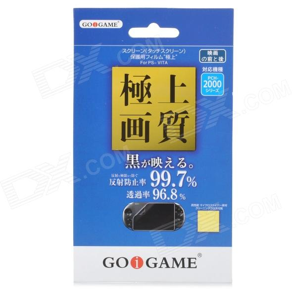 GOiGAME Protective PET Clear Back + Front Film Set for PS Vita 2000 - Transparent + Green