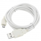 Micro 5pin  to USB 2.0 Data / Charging Cable for Cellphones + More - White (200cm)