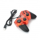 GAME PRINCE JH-705 USB 2.0 Double Shock GamePad Controller - Red + Black