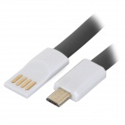 Bolongking USB 2.0 M to Micro USB M Charging Flat Cable - Black (1.2m)