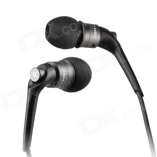 JBM MJ6600 In-Ear Earphone w/ Microphone for Tablet PC + Cellphone + MP3 + More - Grey (3.5mm Plug)