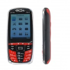 "C710 2.8"" LCD Dual-SIM Fashion GSM Bar phone, with Bluetooth FM and Camera - Red+Black"
