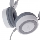 KEENION KDM-905 Stereo Wired Computer Earphone w/ Microphone - Grey + White (210cm 3.5mm)