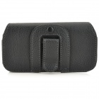 SKS Protective PU Leather Case w/ Belt Clip for IPHONE 5 / 5S / 5C - Black