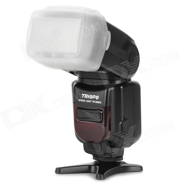 Buy TRIOPO TR-586EX Auto Zoom TTL Wireless 1-LED Speedlight for Nikon - Black with Litecoins with Free Shipping on Gipsybee.com