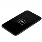 Qi Standard Mobile Wireless Power Charger EU Plug + i9300 Wireless Charger Receiver - Black