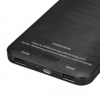Ultra-thin 20000mAh External Battery Power Charger w/ LED Indicator/ Flashlight - Black