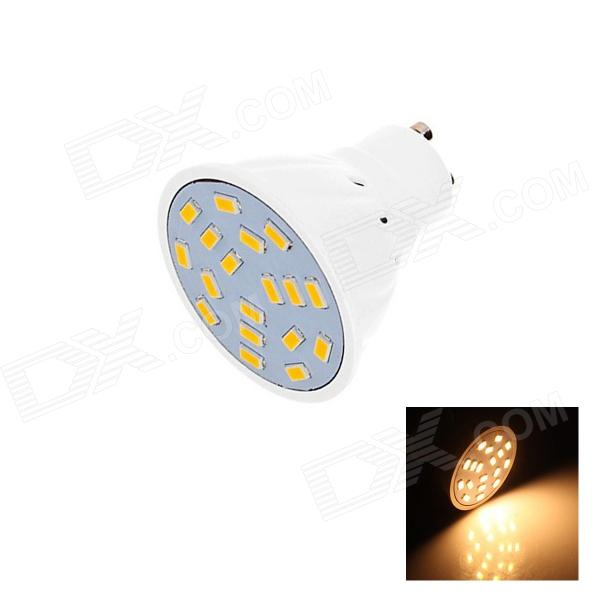 GU10 6W 250lm 3000K 18 x SMD 5630 LED Warm White Light Lamp Bulb - White (AC 220~240V)