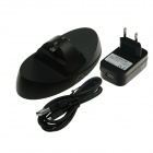 Dual Charge Station Charging System for Microsoft XBOX ONE Controller - Black (EU Plug / 100~250V)