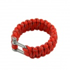 Survival Reflective Bracelet w/ Stainless Steel Buckle - Red
