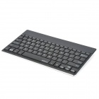 B.O.W 7-Color Backlit Universal Bluetooth V3.0 Keyboard for iOS / Android / Windows - Silver + Black